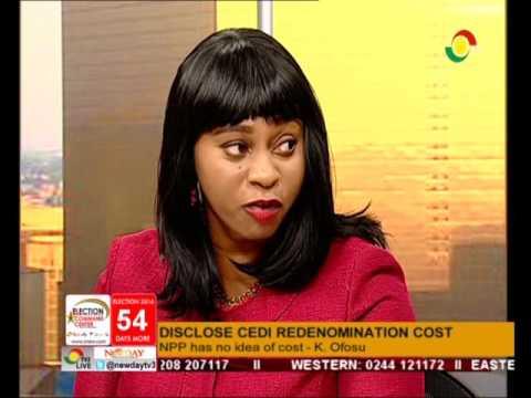 Cost of Cedi re-denomination saga & EC 66% confidence rating - Newspaper Review [Full ] - 13/10/2016
