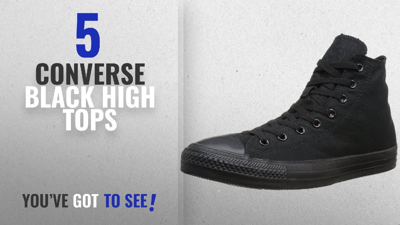 9d56ce1b5de5 Top 5 Converse Black High Tops  2018   Converse Mens Chuck Taylor All Star  High Top