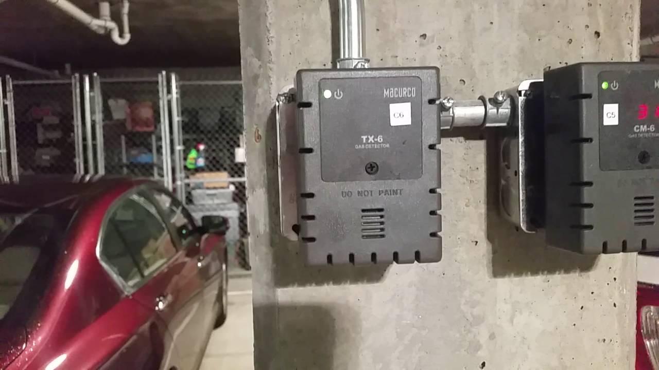 Smoke Parking Garage : Parking garage poisonous gas detection system youtube