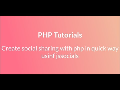 create social sharing link with php in quick way using jssocials