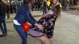 Balloon Pop Challenge in Public 🎈