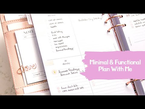 Plan With Me - Minimal & Functional