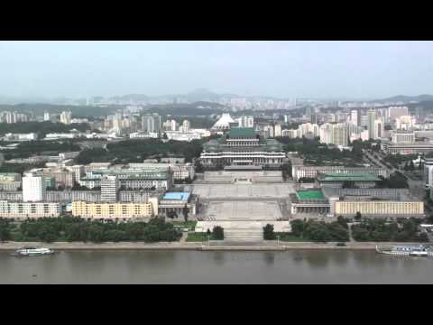 View of Kim Il Sung square from the Juche tower (DPRK)