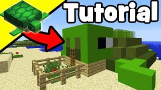 """Minecraft Tutorial: How To Make A Turtle House """"House For Turtles"""""""