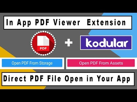 In App PDF Viewer Extension for Kodular , Thunkable , Appybuilder | Direct  PDF File Open in App |