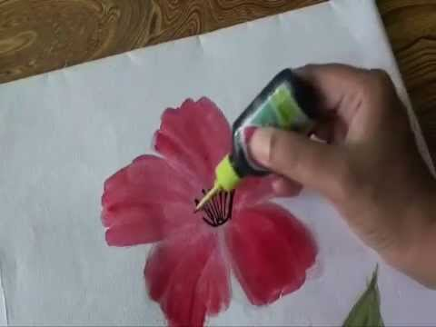Hibiscus Flower Drawing Step By Step