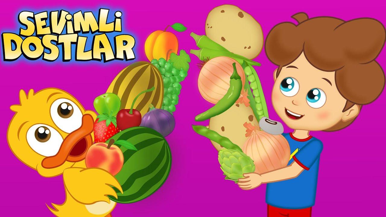 Meyveler ve Sebzeler | Sevimli Dostlar bebek şarkıları ile meyve ve sebzeleri tanıyorum! | Adisebaba