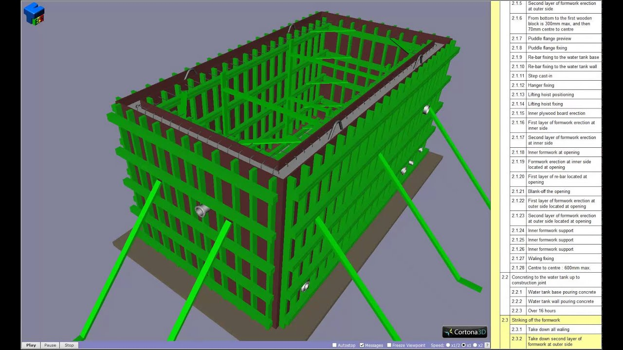 3d Method Statement For Pre Cast Water Tank Construction
