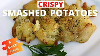Crispy Crunchy Smashed Potatoes With Rosemary, Parmesan Cheese by Rockin Robin