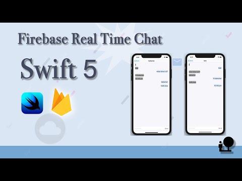 Swift 5 & Xcode10 Create Firebase Real Database Chatting App