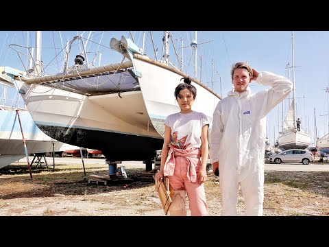 What Happens When 2 Amateurs Try to Refit An OLD Catamaran?   Wildlings Sailing