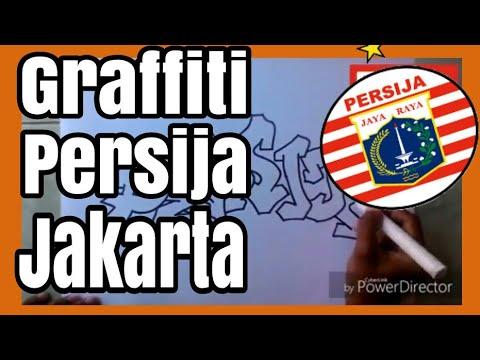 Cara Menggambar Graffiti Persija Jakarta Part 1 Youtube