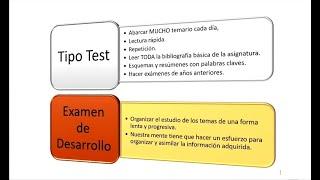UNED ¿Cómo estudiar para un examen tipo test?