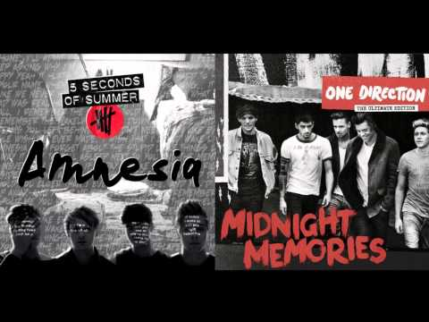 Amnesia - Half a Heart _ 5 Seconds Of Summer & One Direction (Mashup)