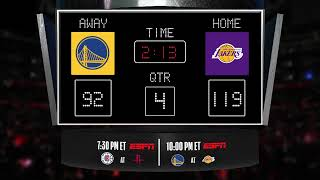 Warriors @ Lakers LIVE Scoreboard - Join the conversation and catch all the action on ESPN!