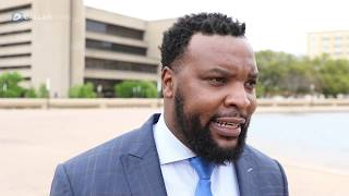 Attorney Lee Merritt speaks out after Deep Ellum attack victim charged with a felony