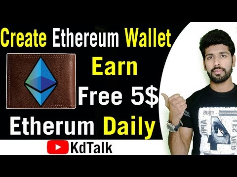How to Create Ethereum wallet account and Paper wallet in hindi and Earn 5$ Free Ethereum Daily