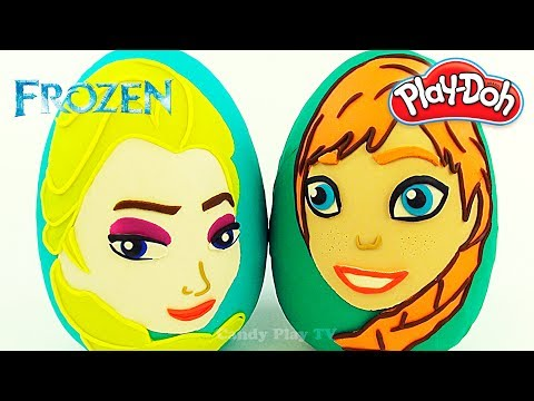 Huge ANNA ELSA play doh surprise eggs  Learn Colours with ANNA ELSA and Play-Doh