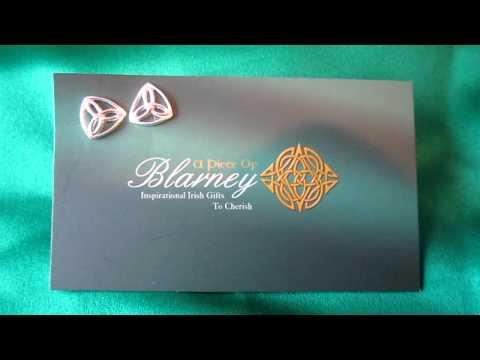 Sterling Silver Trinity Knot Stud Earrings - www.apieceofblarney.com