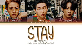 Gambar cover BTS Stay Lyrics (방탄소년단 Stay 가사) (Color Coded Lyrics)