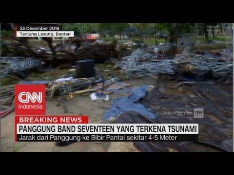 "Penampakan Panggung Band ""Seventeen� Pasca Diterjang Tsunami"