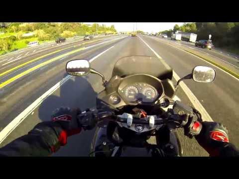 Making fun of a HOG rider... and CBF600SA - The older model!