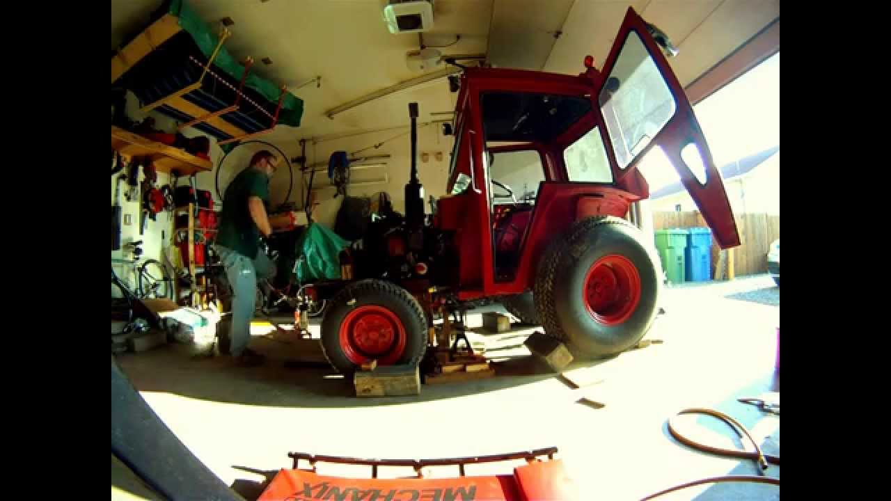Split In Two Parts A Massey Ferguson 1020    Clutch