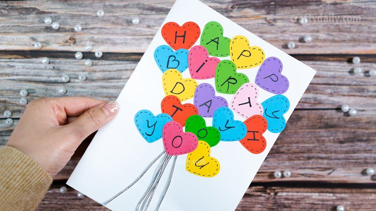 HEART CARD  Happy Birthday Card  Happy Birthday Greetings Card