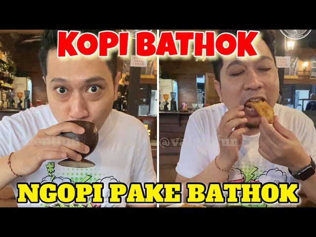 KOPI BATHOK #Purbalingga Sensasi Ngopi Pake Bathok Kelapa. Gimana rasanya ya?!