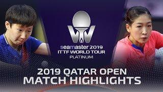 Liu Shiwen vs Wang Manyu | 2019 ITTF Qatar Open Highlights (Final)