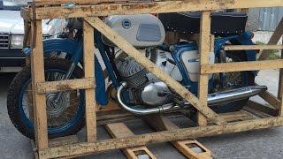 Забытый на 38 лет: новый мотоцикл ИЖ Юпитер-3 1976 года в заводской упаковке Motorcycle in the crate(, 2015-12-23T13:24:37.000Z)