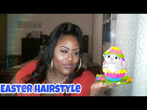 Half up/Half Down Quick weave Easter Hairstyle