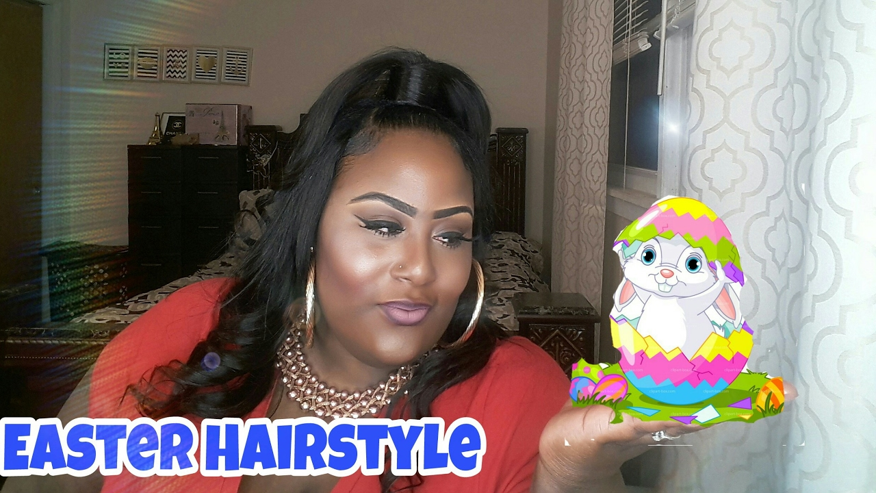 Half Up Half Down Quick Weave Easter Hairstyle Youtube