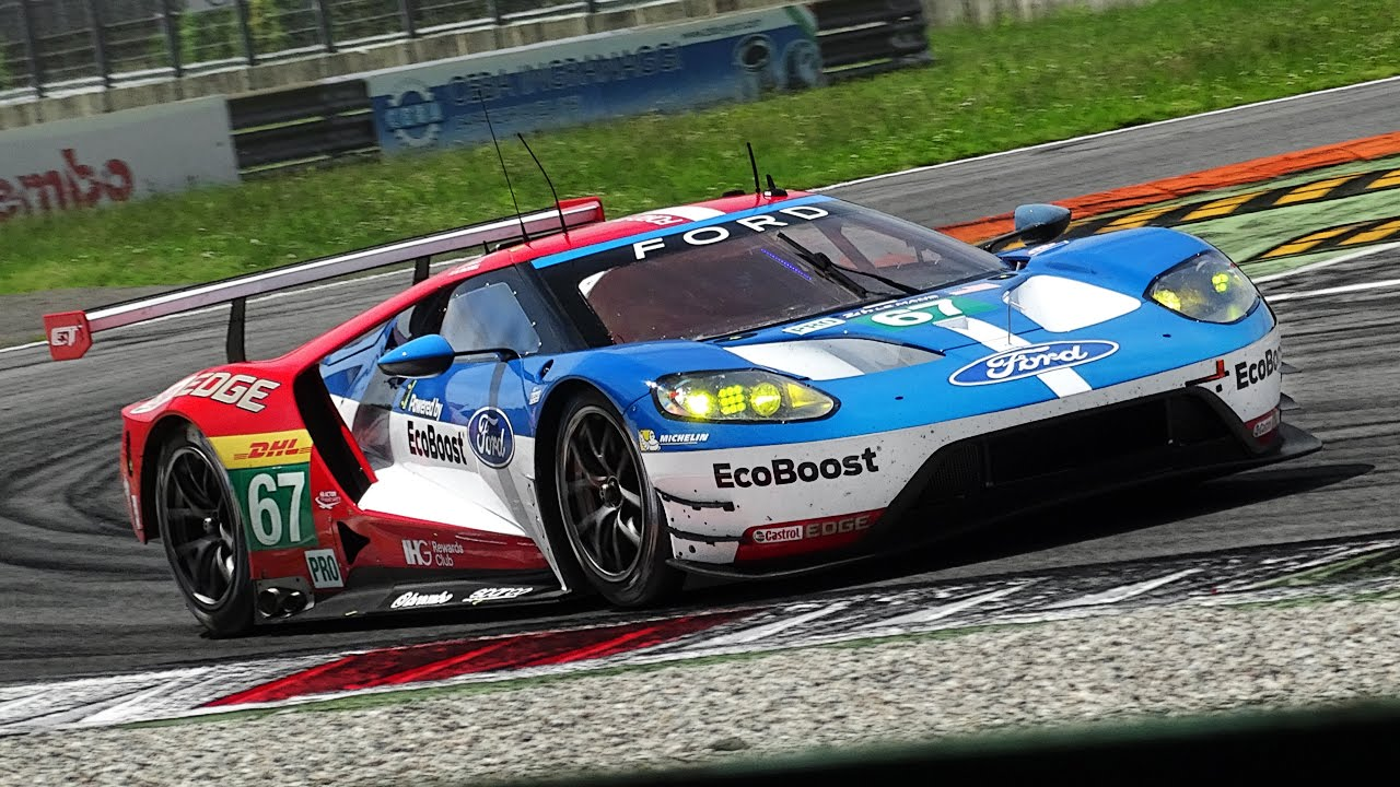 Ford Gt Lm Gte Sound H Le Mans  Pre Test At Monza Circuit Youtube