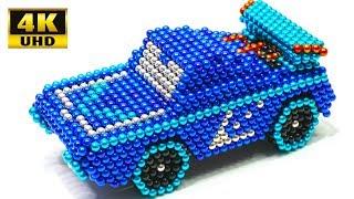 Вироби як зробити синій автомобіль з магнітних кульок | магнітна іграшка 4К