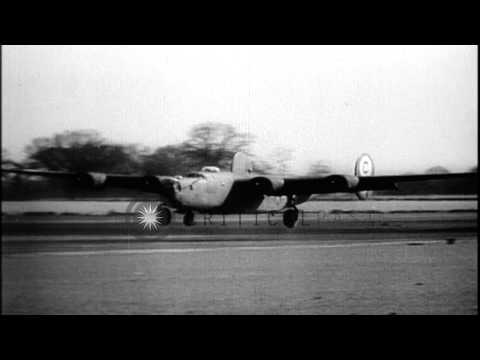 German Stuka dive bombers drops bombs on Dunkirk in France. HD Stock Footage