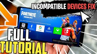 How To Play Fortnite on incompatible, unsupported devices fix Download Now 1gb & 2gb ram Phone