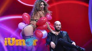 Moment incendiar, la iUmor! Livia Marinescu, in lenjerie intima, a spart baloane pe Bendea ...