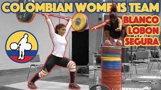 Colombian Womens Team (Blanco 110kg CJ + Lobon 90kg Snatch + Segura 115kg FSx2) - 2017 WWC [4k 60]