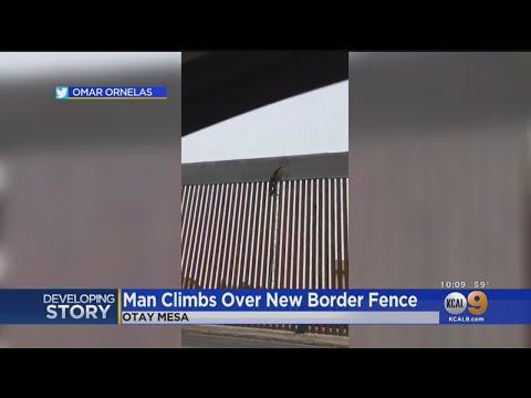 Manny's - Immigrants Easily Climb New Segment Impenetrable Border Wall