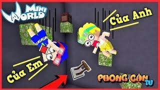 Mini World: phong cận và mr.vịt solo pro parkour giành cần gạt vip trong mini world | Phong Cận Tv