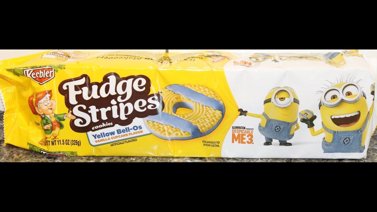 Fudge Stripes Cookies Yellow Bell Os Vanilla Cupcake Review