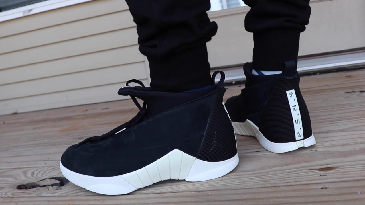 fb34567f0363df PSNY X JORDAN RETRO 15 BLACK ON FOOT LOOK!!!!! - YouTube