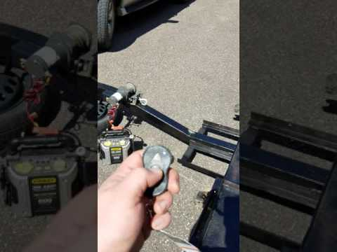 Car dolly wireless winch