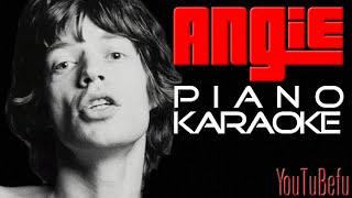 Video ANGIE (KARAOKE) piano download MP3, 3GP, MP4, WEBM, AVI, FLV Mei 2018
