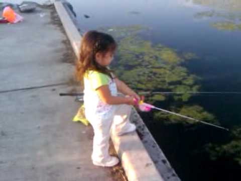 Baby sophie trying out her new fishing pole youtube for Baby fishing pole