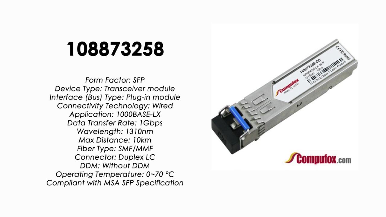 Avaya Compatible 1000BASE-LX 10km SMF 1310nm SFP Transceiver 108873258
