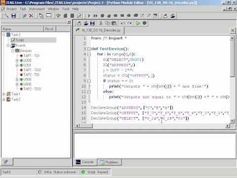 JTAG Live Script demo