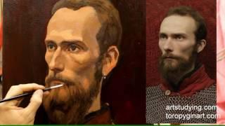Портрет бородатого мужчины (10) - Обучение живописи. Портрет, 45