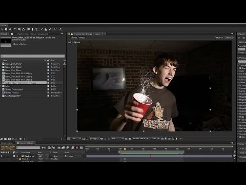 How to Stop Time with 3D Water in the Air - After Effects CS6 - Time Freeze After Effects Tutorial